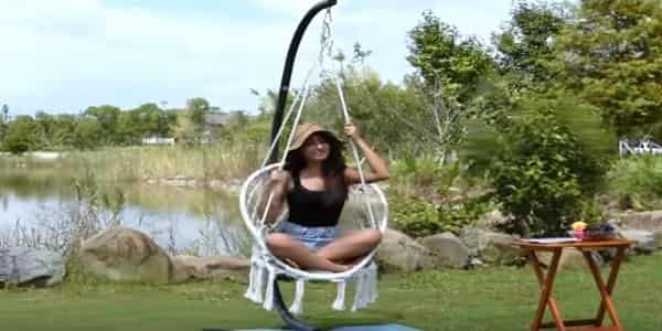 hanging a hammock chair from a C stand