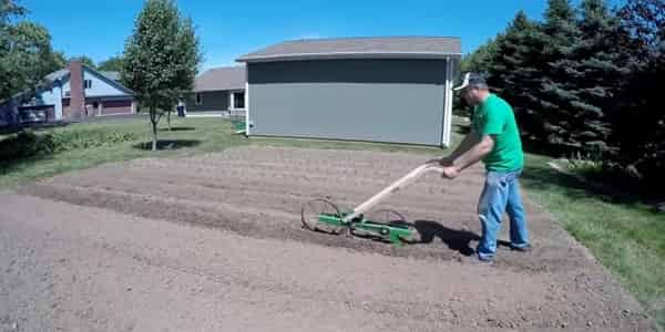 Walk-behind seed planter