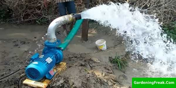 Flow Rate of the irrigation pump